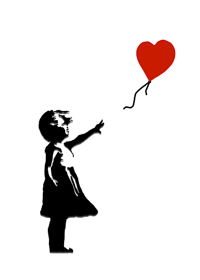 Girl with Balloons by LondonFreshTees