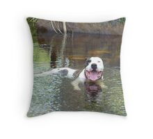 Thirsty Work Throw Pillow