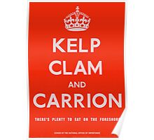 """""""Kelp, Clam and Carrion,"""" 1941 Poster"""