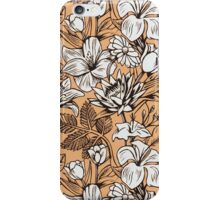 Vintage Tropical Flowers Wallpaper iPhone Case iPhone Case/Skin