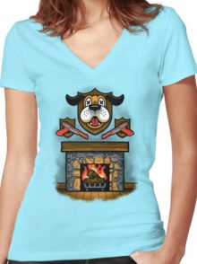 Who's Laughing Now? Women's Fitted V-Neck T-Shirt