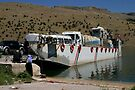 Ferryboat on Euphrates River by Jens Helmstedt