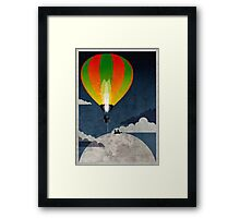 Picnic in a Balloon on the Moon Framed Print