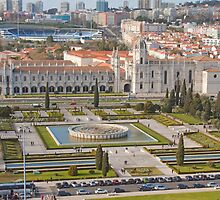 Jerónimos Monastery and the Empire Plaza. by terezadelpilar~ art & architecture