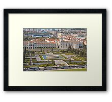 Jerónimos Monastery and the Empire Plaza. Framed Print
