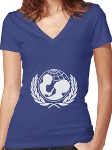 Universal Unbranding - Child Soldier Women's Fitted V-Neck T-Shirt