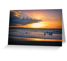 Byron Bay Sunset Greeting Card