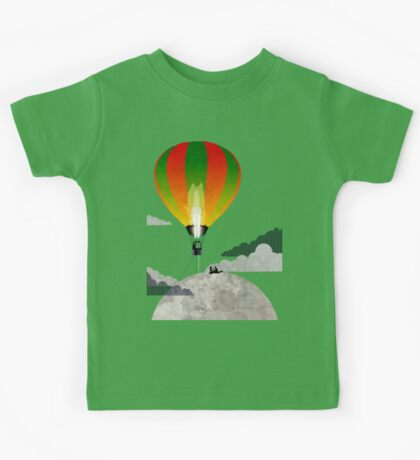 Picnic in a Balloon on the Moon Kids Tee