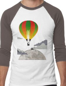 Picnic in a Balloon on the Moon Men's Baseball ¾ T-Shirt