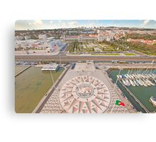 Praça do Império. Padrão dos Descobrimentos. Canvas Print