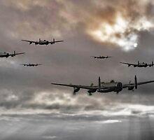 Lancaster Raid by J Biggadike