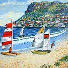 'Summertime Fun' - Fish Hoek Beach, Cape Town by Cherie Roe Dirksen