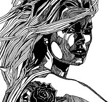 B&W Fashion Illustration - Wilko Johnson by Paul  Nelson-Esch