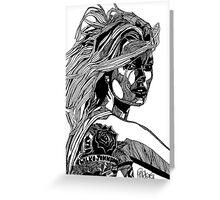 B&W Fashion Illustration - Wilko Johnson Greeting Card