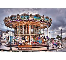 Merry-go-round in Honfleur - France Photographic Print