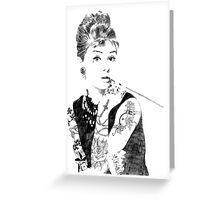 Audrey Hepburn inked Greeting Card