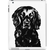 Black Lab Beauty Graphic ~ black and white iPad Case/Skin