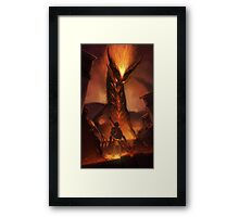 OoT: Volvagia vs Link Framed Print