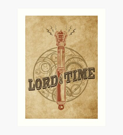 Steampunk Sonic Screwdriver Art Print