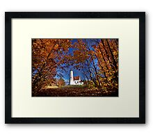 Lighthouse Northern Michigan Lake Superior Scenic Framed Print