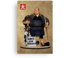 Iaido's for Pussies Canvas Print