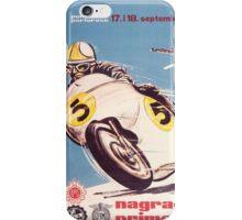 Vintage Motorcycle Racing iPhone Case/Skin