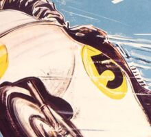 Vintage Motorcycle Racing Sticker