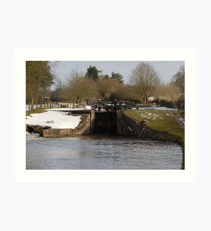 Snowy Locks at Tyrely Art Print