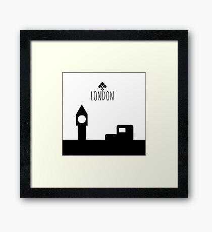 London in 2D Framed Print