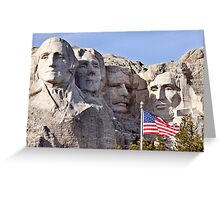 Mount Rushmore South Dakota Black Hills Greeting Card