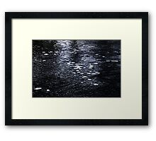 Pancake Ice Abstract Framed Print