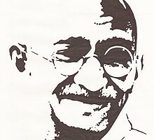 Mahatma Gandhi by Ant-Acid