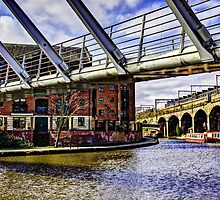 Castlefield Boats and Bridges Manchester by inkedsandra