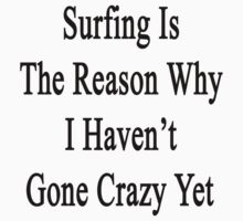 Surfing Is The Reason Why I Haven't Gone Crazy Yet by supernova23