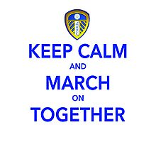 Keep Calm And March On Together Photographic Print