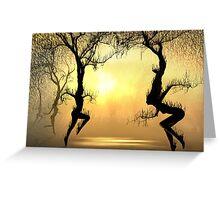 Fiery Dance Greeting Card