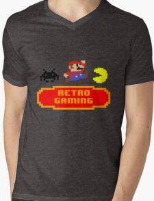 Retro Gaming Mens V-Neck T-Shirt