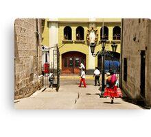Calle de la Catedral Canvas Print