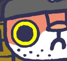 Scurvy Pete the pirate hackycat Sticker