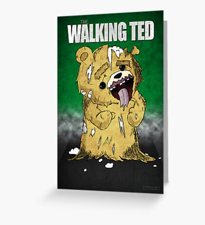 The Walking Ted Greeting Card