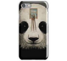 Panda window cleaner 03 iPhone Case/Skin