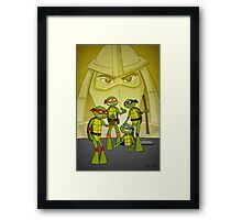 Turtles in the Desert Framed Print