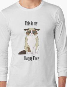Happy Face - Grumpy Cat Long Sleeve T-Shirt