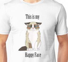 Happy Face - Grumpy Cat Unisex T-Shirt