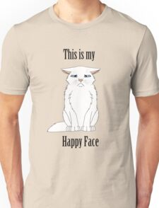Happy Face - White Cat Unisex T-Shirt