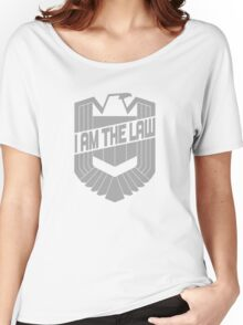 Custom Dredd Badge Shirt - (I Am The Law) Women's Relaxed Fit T-Shirt