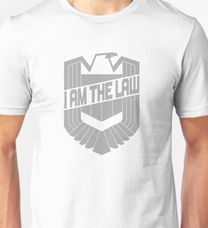 Custom Dredd Badge Shirt - (I Am The Law) Unisex T-Shirt