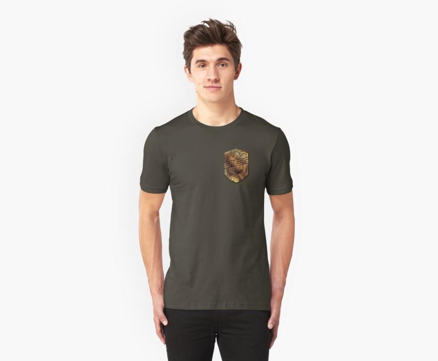 Custom Dredd Badge Shirt - (Gregg) by CallsignShirts