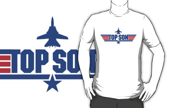 Custom Top Gun Style - Top Son by CallsignShirts