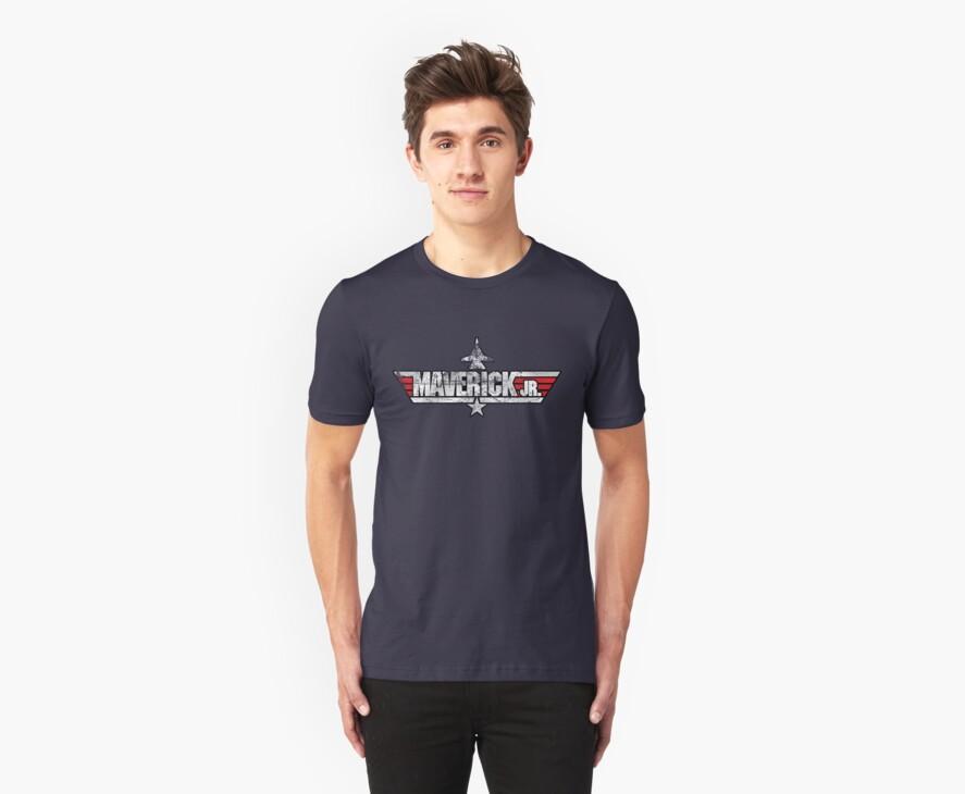 Custom Top Gun Style - Maverick Jr (Ver B) by CallsignShirts